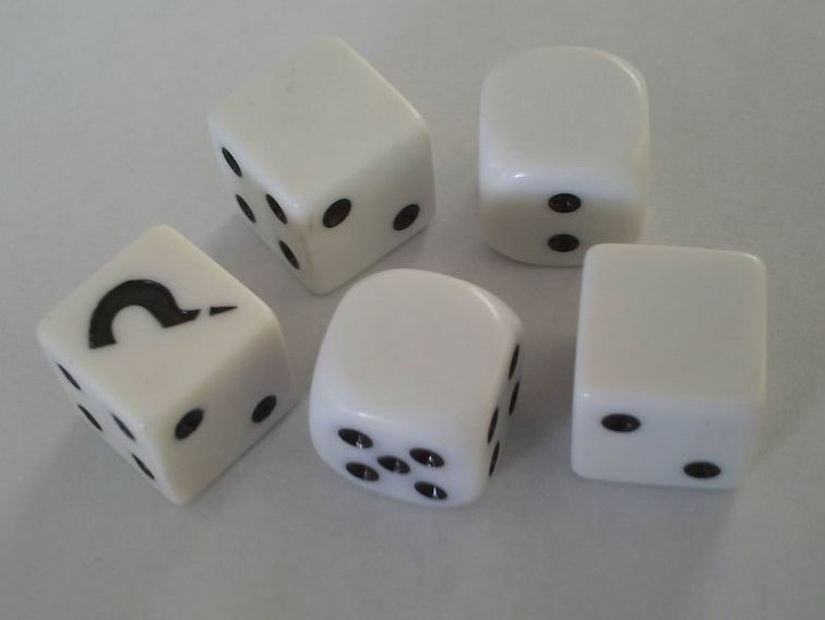 Advertising Cube Ivory Dice For Promotion