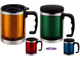 Double Wall Travel Mugs With Handle
