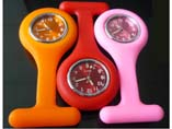 High Quality Waterproof Silicon FOB Nurse Pin Watch