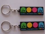 Soft PVC Keychains With Embossed Logo