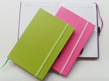 A5 Hardcover Notebook With Elastic Band And Ribbon
