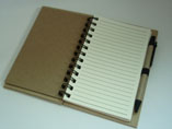 Promotional Kraft Paper Cover Double Spiral Noteboo