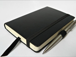 High Quality PU Leather Notebook With Metal Pen