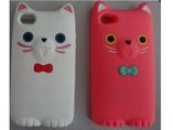 Hot Sell Lovely Cartoon Silicone Soft Iphone4/4S Ca