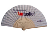Custom Printed Wooden Fabric Hand Fan