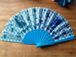 Solid Plastic Fabric Folding Fan For Promotional Gi