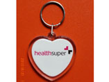 Lovely Heart Shape Acrylic Keychains