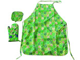 Cotton Printed Kitchen Apron Set