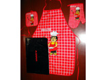 Customized Apron Set With Glove And Potholder