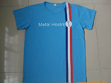 Blue Cotton Short Sleeve T-shirt For Men