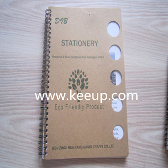 Printed hardpaper cover promotional notebook with spiral bound
