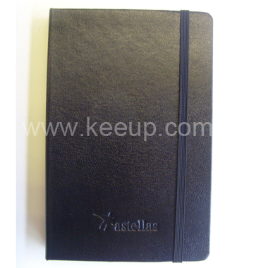 PU Leather Business Notebook Diary With Elastic Band
