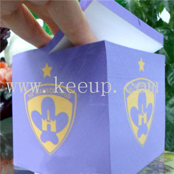Advertising paper cube sticky note for office ,home and office