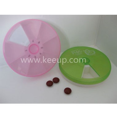 Promotion Cheap Round Plastic Pill Cutter Box