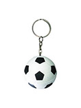 PU football stress ball metal keychain for promotio