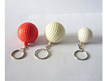 Wholesale custom golf ball stress ball keychain for