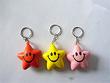 smile star stress ball keychain for promotion