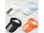 Custom striped cotton sun visor cap for promotion