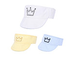Fashion hot sale children sun visor cap with crown logo