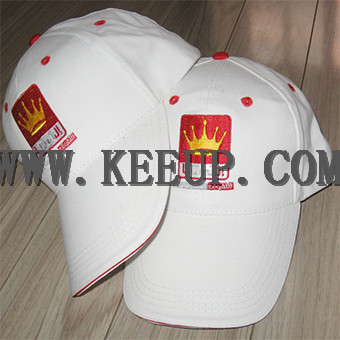 Cutton baseball caps with velcro buckle for promotional gifts