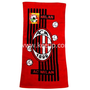 Promotion jacquard Football Club beach towels