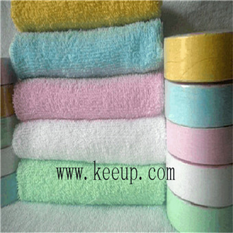 Cotton terry round pill shaped compressed towel for giveaway