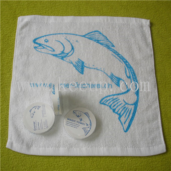 Normally 30x30cm white cotton towel with your logo printing