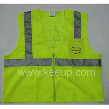 Mesh Reflective Vests With Zipper