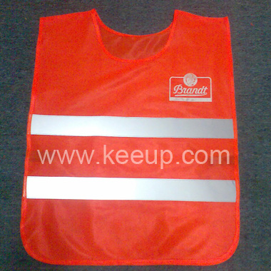 Orange High Visibility Reflective Security Vest
