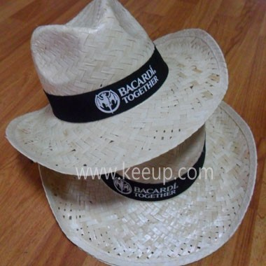 Cowboy Straw Hat With Cord