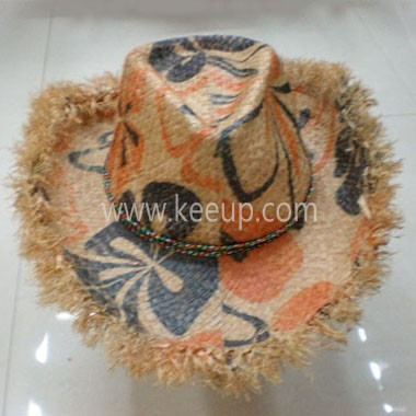Lady Straw Hat With Decorative Cord