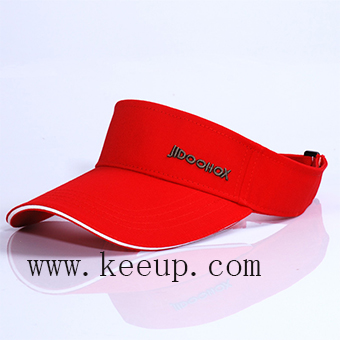 Custom sun block sweat-absorbent sun visor cap