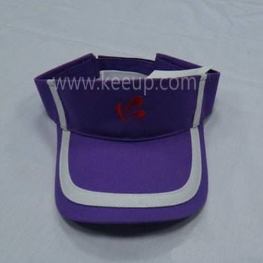 Purple Plain Sun Visor Hat