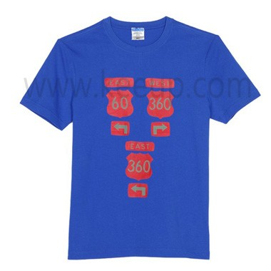 Blue Advertising Cotton T-shirt