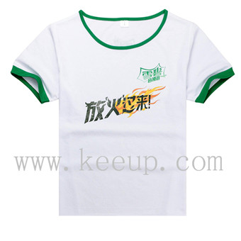 Customize Blending stitching cotton cheap t shirt with branding