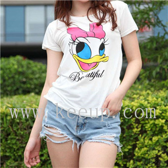 Outdoor Advertising 100% cotton t shirt with Cartoon pattern printing