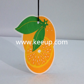 2016 Top selling hanging paper car scent custom air freshener