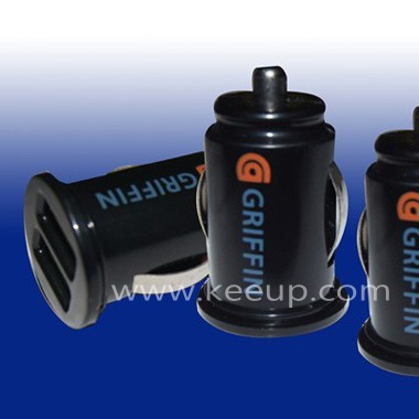 Wholesale Black Dual Ports Car Charger,promotional Gifts