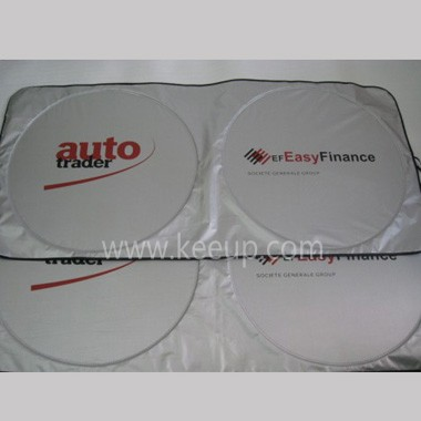 Promotional car sunshade