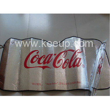 Aluminum Foil Rear Car Sunshades With Logo For Promotion