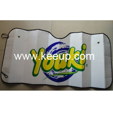 Logo Printing PE Bubble Car Sun Shade For Front Window
