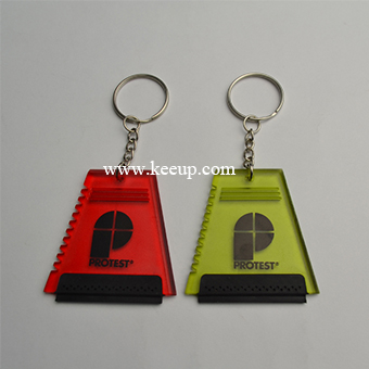 Mini ice scraper key rings