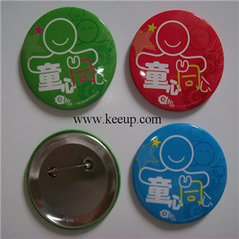 Custom tinplate badge for garment and uniform with you logo