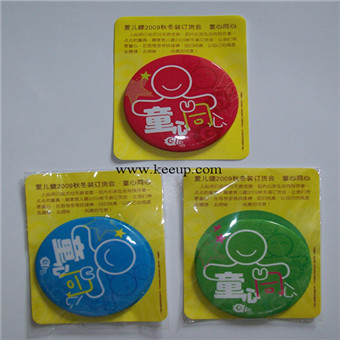 Cute cartoon tinplate badge custom full color printing