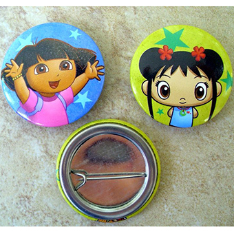 Promotional Round Shape Tin Button Badge