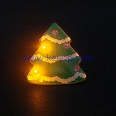Christmas Tree Promotional Flashing Badge Gifts