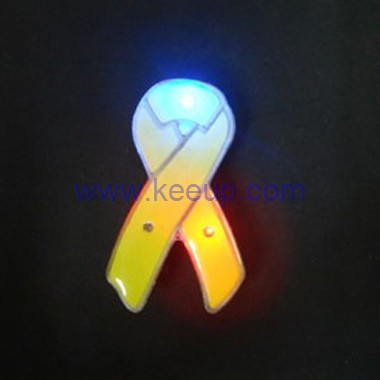 Flashing Light Button Badges