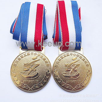 Custom sports metal medal with ribbon