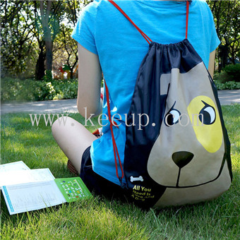 Custom Promotional Advertising Polyester drawstring backpack