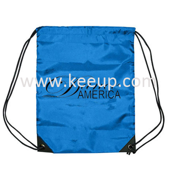 Give away 210D polyester Drawstring Backpack